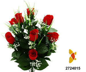 Artificial/Plastic/Silk Flower Rosebud Bush (2724015) pictures & photos