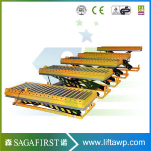 1 to 5m Small Low Collapased Height Wood Lift Scissor Roller Lift Table pictures & photos