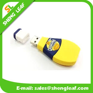 Rubber 3D Customized PVC USB Flash Drive (SLF-RU017) pictures & photos