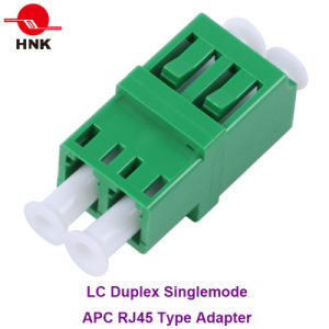 LC Duplex Singlemode APC RJ45 Type Fiber Optic Adapter pictures & photos