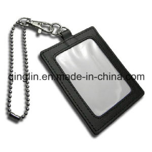 Promotion Gift Leather Card Holder with Metal Lanyard (QL-GZZ-0008) pictures & photos