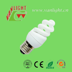 High Efficiency T3 Full Spiral CFL 9W Energey Saving Bulb pictures & photos