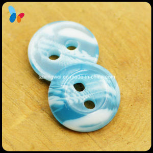 Dyed Blue Sky Color 2 Holes Resin Button pictures & photos