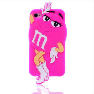 Cartoon M&M Bean Beauty White Gloves Boots Silicone Case Mobile Phone Accessories (XSR-018)