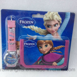 Frozen Gift Set Cartoon Watch and Wallet Fro Kids pictures & photos