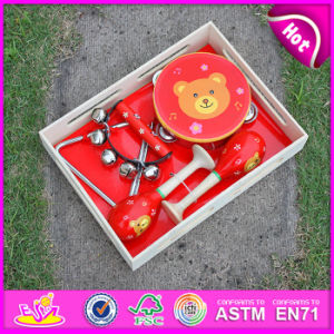 2015 Prefessional Preschool Musical Instrument Toy, Wooden Musical Instruments, Percussion Set, Tambourine, Maracas, Handbell W07A089 pictures & photos