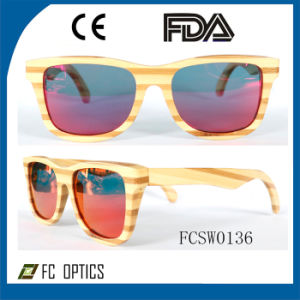 Unisex Polarized Promotional Eyewear Wooden Framed Sunglasses pictures & photos