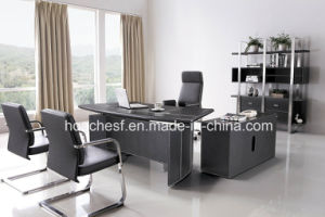 Modern Leather MDF Office Desk Office Table (YA-03) pictures & photos
