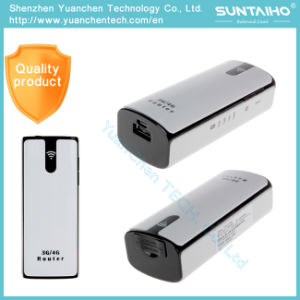 3G Wireless WiFi Router WiFi Modem 3G WiFi Router with SIM Card Slot Hotspot 5200mAh Battery Power pictures & photos