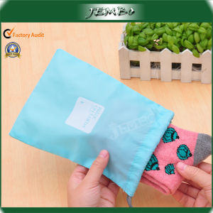 Silk Screen Printing Small Drawstring Storage Bag for Socks pictures & photos