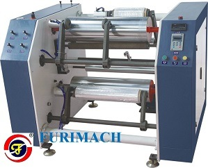 High Speed Semi-Automatic Stretch Film, PVC Cling Film Slitter Rewinder pictures & photos