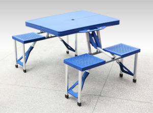 ABS Plastic Garden BBQ Folding Camping Picnic Table