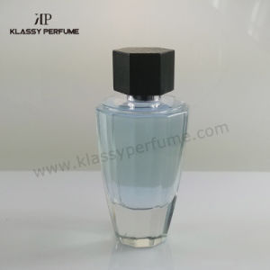 Empty Glass Perfume Bottle with Wood Cap