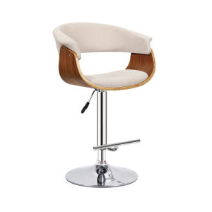 Popular Wooden and Fabric Furniture Adjustable Bar Chair (FS-WB1953) pictures & photos