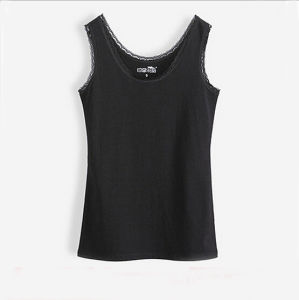 Customized High Quality (Cotton/Spandex) Personalized Lace Sexy Lady Tank Top pictures & photos
