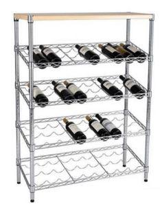 New Design Floor Standing Commercial Wine Metal Display Rack pictures & photos