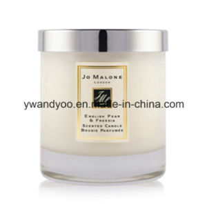 Scented Soy Clear Glass Massage Candle with Metal Lid