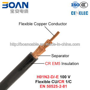 H01n2-D/-E, Welding Cable, 100 V, Flexible Cu/Cr (EN 50525-2-81) pictures & photos