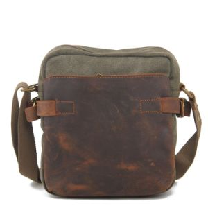 Cowhide Leather Stitching Canvas Bag (RS-6881) pictures & photos