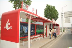 Metal Painted Bus Stop Shelter Canopy Booth Kiosks pictures & photos