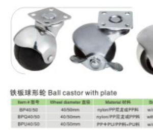 Ball Castor with Thread pictures & photos