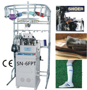 Long Sports Socks Knitting Machine pictures & photos