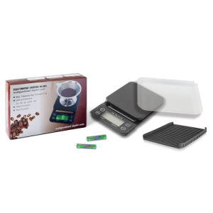 Portable 3kg/0.1g High Precision LCD Drip Coffee Scale with Timer pictures & photos