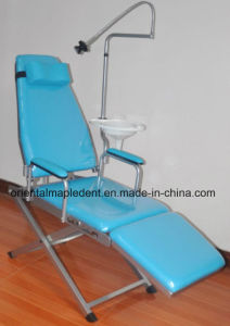 Economic Portable Folding Dental Chair Unit with Operating Light pictures & photos