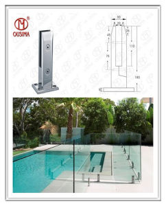 Garden Fence &Swimming Pool Square Glass Balustrade Used Outdoor (CR-A08) pictures & photos