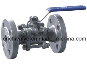 3PC Stainless Steel Flanged Bar Stock Ball Valve pictures & photos