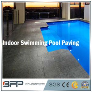 Black Natural Stone/ Granite Outdoor Tile for Swimming Pool Coping pictures & photos