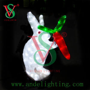 LED 3D Rabbit Motif Sculpture Light for Holiday Decoration pictures & photos