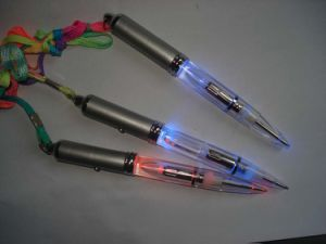 LED UV Light up Ballpoint Pen with Lanyard pictures & photos