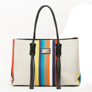 2016 New Arrival Canvas Trendy lady handbag(QC-64A) pictures & photos