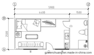 china single container house layout design from wenchuang - china