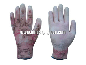 13G PU Coated Nylon Liner Work Glove pictures & photos