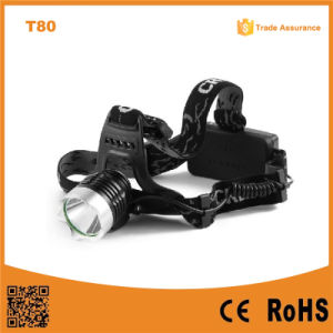 T80 Multifunction High Power LED Headlamp 10W Xml T6 Rechargeable LED Head Torch pictures & photos