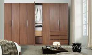 Fashion Bedroom Wooden Wardrobe Cabinet (HF-EY09043) pictures & photos