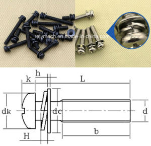 Ni-Plating/Black Zinc-Plating Pan Cross Head Combination Screw pictures & photos