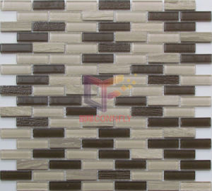 Strip Marble and Crystal Mosaic Tile (CFS660) pictures & photos