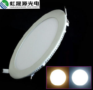 Long Lifespan 6W Mounted Aluminum Frame Round LED Panel Light with IEC/En62471 pictures & photos