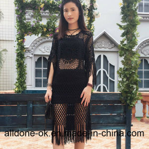 New Fashion Hand Crochet Summer Long Dress with Fringes pictures & photos
