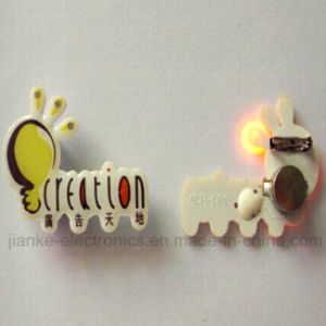 Promotiom LED Blinking Lapel Pins with Customized Design 361)