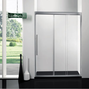 Three Consecutive Sliding Tempered Glass Shower Enclosure/ Three Sliding Moving Glass Shower Doors/ Enclosures pictures & photos