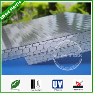 10-Year Clear Cellular Polycarbonate Honeycomb Multi-Wall Hollow Sheet Plastic Sheet pictures & photos