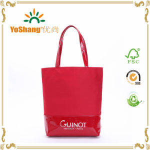 Wholesale Handbag Ladies Bag with Mixed Shiny PVC Fabric Mixed Bag pictures & photos
