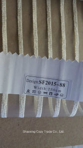 New Fashion Project Stripe Organza Sheer Curtain Fabric 201588 pictures & photos