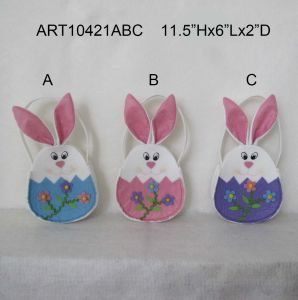 "11.5""H Easter Decoration Bunny Hangbag-3asst pictures & photos"