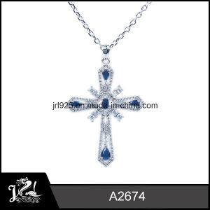 Wholesale White Gold Plated Silver Cross Pendant
