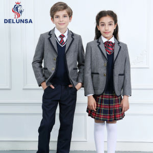 Cheap Grey Winter School Uniform pictures & photos